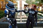 A-kon 2014 Garrus and Shepard by prettyfloralbonnet