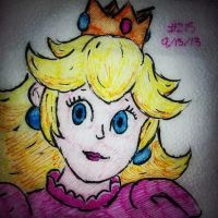 Napkin Art 215 - Princess Peach - Smash Brothers by PeterParkerPA