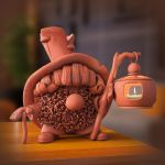 clay Brownie ( 3d object ) by viiik33