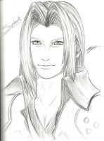 Sephiroth Finished Sketch by BahamutDeusModus