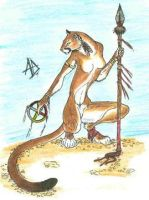 Puma with Medicine Wheel by shiftyferret