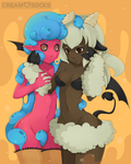 Esmer and Blueberry by CreamSocks