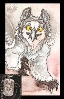Fluffy Little Gryphon and Dog Tag by caramitten