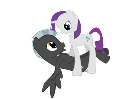 Rarity and Thunderlane by SoupInsanity