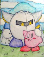 Meta Knight and Kirby by still-a-fan