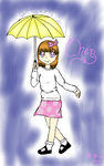 Gift: Bright yellow umbrella by Melomiku