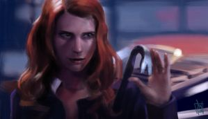 Study - Anna Milton in Supernatural by geeshin