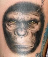 Ceasar, rise of the planet of the apes, tattoo by onksy