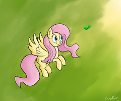 Fluttershy by LazyMort