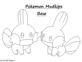 Mudkips Base by Child-Of-Hades