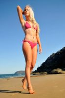 Kahli - pink bikini walk 1 by wildplaces