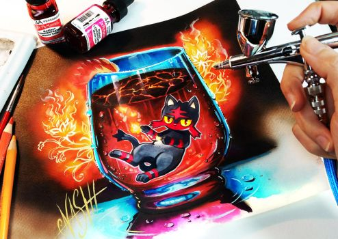 Litten Hot Lava Supreme by Naschi
