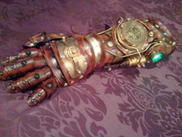Full Steampunk Gauntlet/Glove by Skinz-N-Hydez