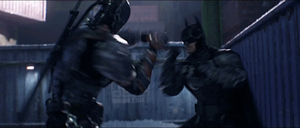 Batman VS Deathstroke by Tsotne-Senpai