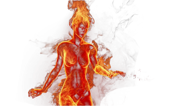 PNG Fire Girl by KatherineSDeath