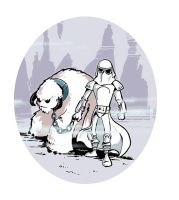 Snowtrooper and pet by littlereddog