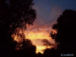 Sunset shot (GET OUTTA THE WAY DUMB POWERLINES!!!) by Stlbluesgirl101