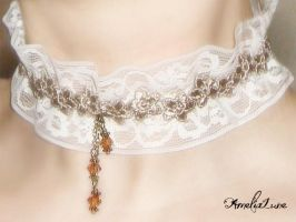 Romantic Lace Choker by AmeliaLune