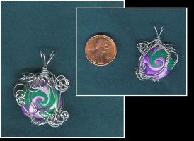 Purple swirl pendant by Glori305