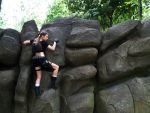 Lara Croft and Rock by TanyaCroft