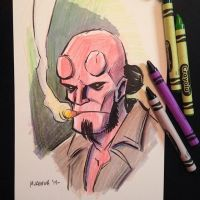 Hellboy Sketchcard - For Sale by mregina