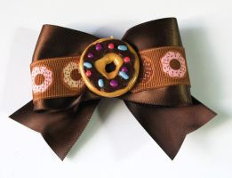 Donut Hair Bow by sakkysa