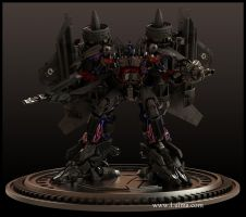 Optimus Jetfire combination by luima23