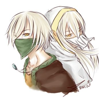 Colored sketch: The masked duo by Temai