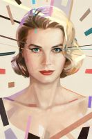 Grace Kelly portrait by astoralexander