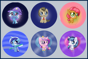 Pony Buttons (Series 4) by LinksLove