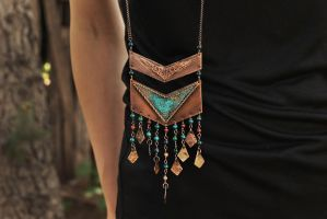 Boho Necklace by twistedjewelry