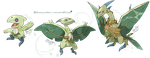 Grass Starters - Canoptera, Pteroot, Ptropiverd by ManiacalMew