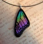 Pastel Glass Rainbow Butterfly Wing by FusedElegance