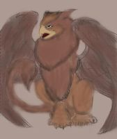 ~Gryphon (Colored)~(@ by SaphirexBlue