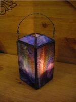 Stained Glass Candle Lantern by Puggpaw
