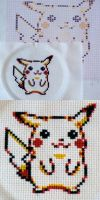 Pikachu Cross Stitch by hellohappycrafts
