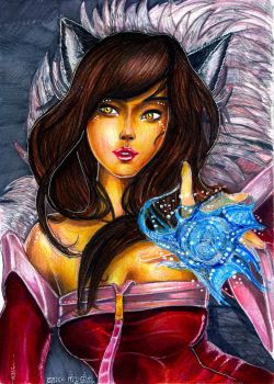 Ahri League of Legends by AmandaBloom