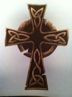 Unfinished Celtic Cross by NikkiDreadful