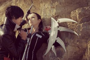 Suzuki Adelheid vs Hibari Kyoya by AliceBlacfox