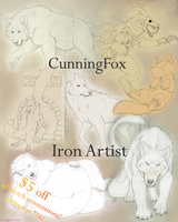Iron artist - Sale on sketches $5 off! by CunningFox