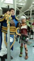 Garen and Riven from League of Legends at AX 2013 by trivto