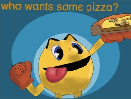 Pacman loves pizza! by ThisGirlNamedAngie