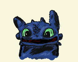 Toothless quick scribble :) by AbsoluteNow