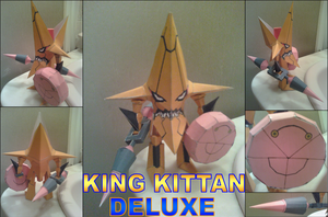 King Kittan Deluxe Papercraft Finished by rubenimus21