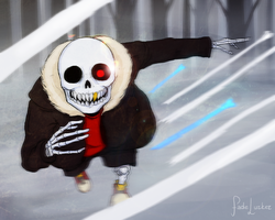 Fun Time - Sans (UnderFell AU) by Fadelurker