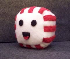 Peppermint Cube Plushie by JeffSproul