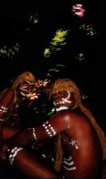 Traditional tribesmen of the Solomon Islands. by J-MEDBURY