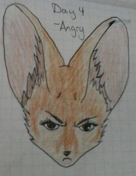 25 days of expressions, day 4 - Angry by KyashaKitsune