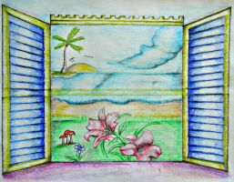 Paradise Window by 123thuraya