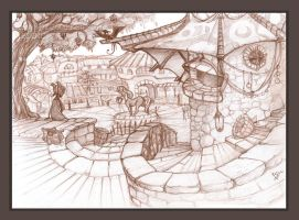 A View From the Fruit Market by Etoli